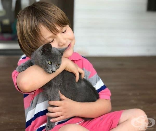 Любовта към животните се заражда в детството.