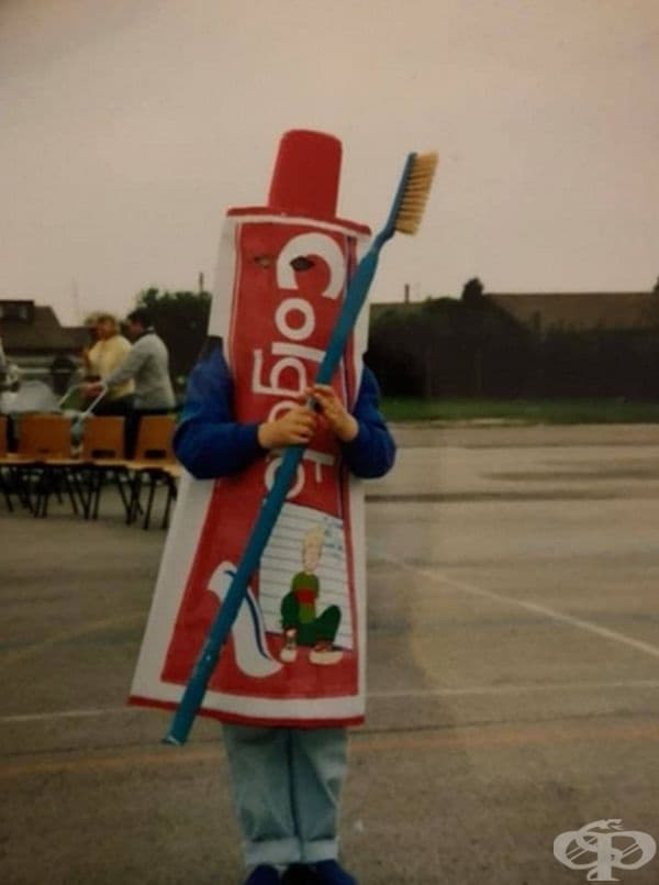 Карнавален костюм - паста за зъби!