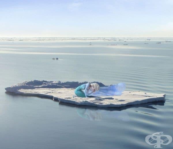 Елза не успява да предотврати разтапянето на полярните ледени шапки.