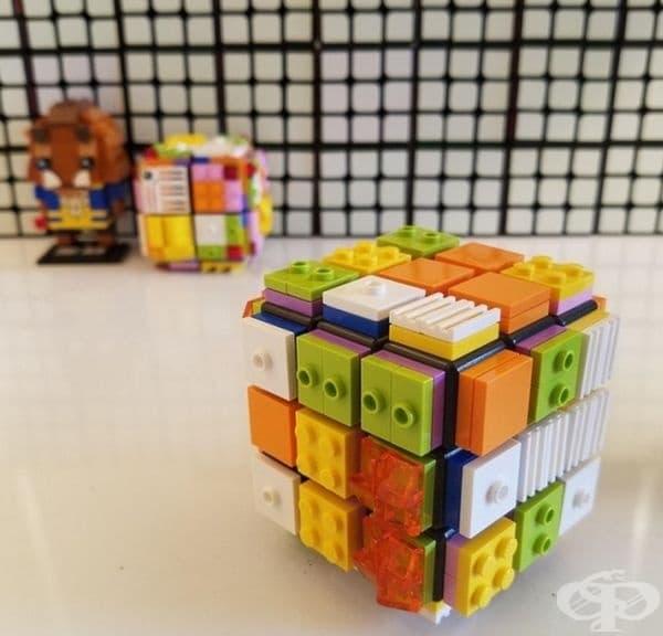 Лего в специален куб на Рубик за незрящи.