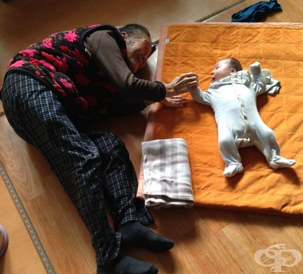 """""""Синът ми на 1 месец и неговата баба - на 97 години."""""""