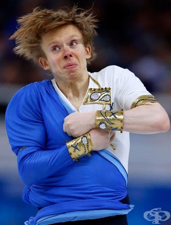 15 несравними физиономии по време на олимпийското фигурно пързаляне