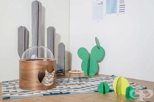 Дизайнерска компания създава космически легла за котки