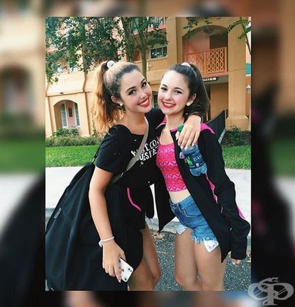 Ана Диното и майка й Мая Илана. На тази снимка Анна е на 14 години, а майка й на 30 г.