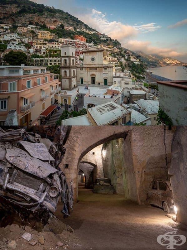 Италия: Тунелът, известен днес като Галерия Борбоника, се намира под Неапол. Той е трябвало да се превърне в евакуационен път от Palazzo Reale, но не е бил завършен. По време на Втората световна война пещерите са служили като убежище и военна болница.