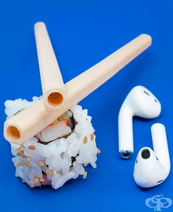 Слушайте музика по път към суши обяда.