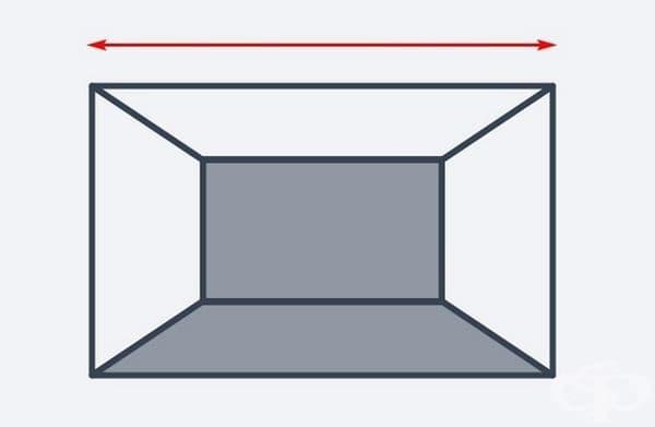 Тъмен под и задна стена ще създаде илюзия за по-прозрачна стая.