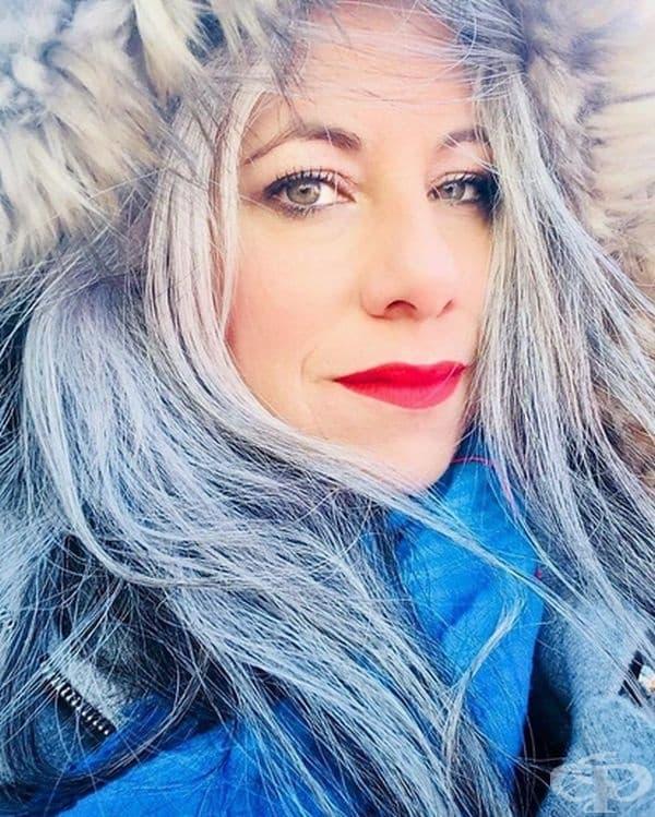 """""""Косата ми е не само сива, но почти бяла. Харесвам я, харесвам всичките й нюанси, особено през зимата."""""""
