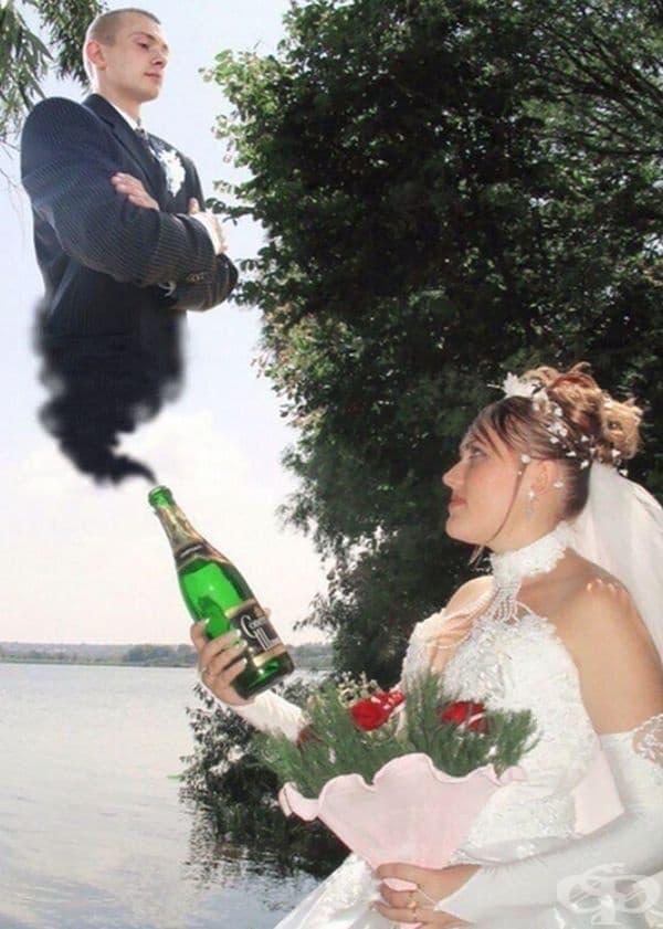 Тя намери любовта на дъното на бутилката.