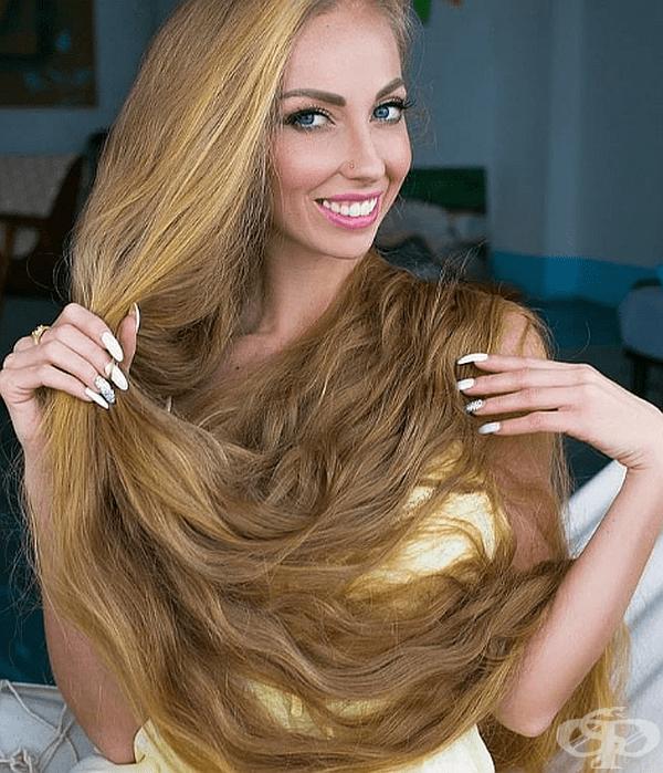 34-годишната жена се грижи за косата си от 5-годишна възраст.