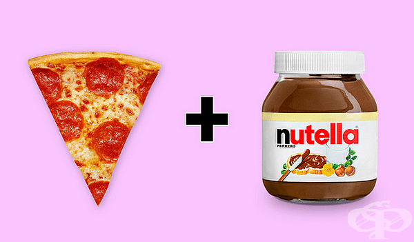 Пица с Nutella. Има много вариации на сладка пица, но основната съставка е шоколадовата паста. В САЩ можете да поръчате такава пица в ресторанти, например.