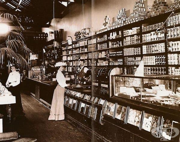 Магазин за хранителни стоки от края на 19 век, САЩ.
