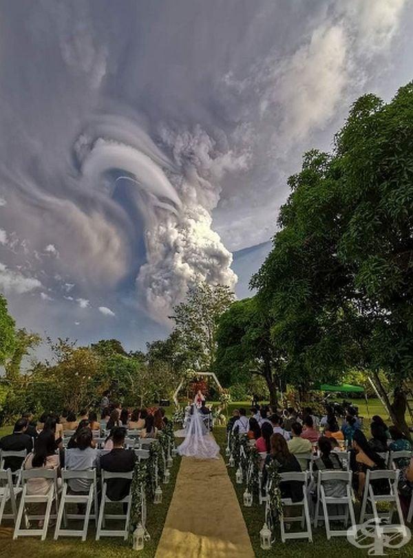 Никой не е подозирал за предстоящото изригване на вулкана, затова гостите са останали изненадани.