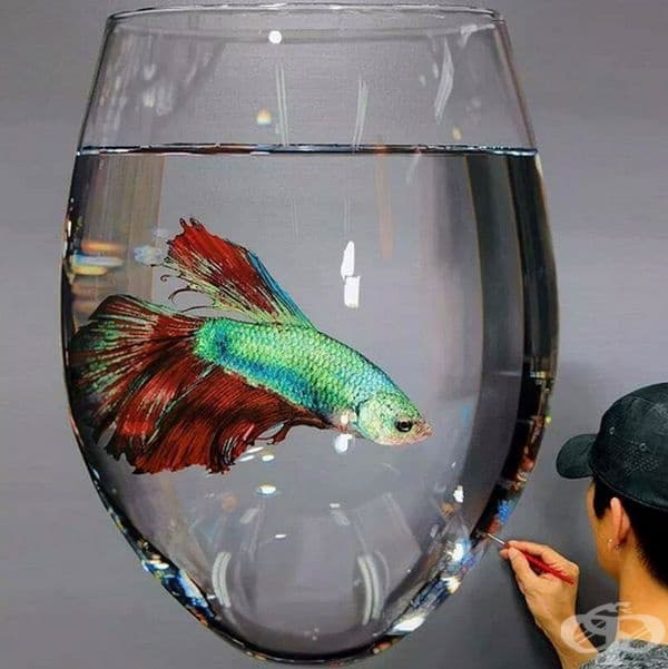 А тази картина изглежда като истинска чаша.