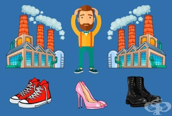 Вие сте собственик на 2 фабрики за обувки и имате проблем: вашите служители крадат готови обувки в големи количества. Трябва да измислите начин, по който да преустановите кражбите, без това да налага допълнителни разходи. Какво ще направите?