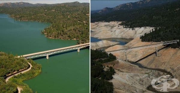 Езеро Оровил, Калифорния (юли 2010 - август 2016).