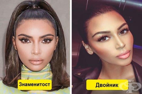 Ким Кардашиян и тази красива девойка са като две капки вода.
