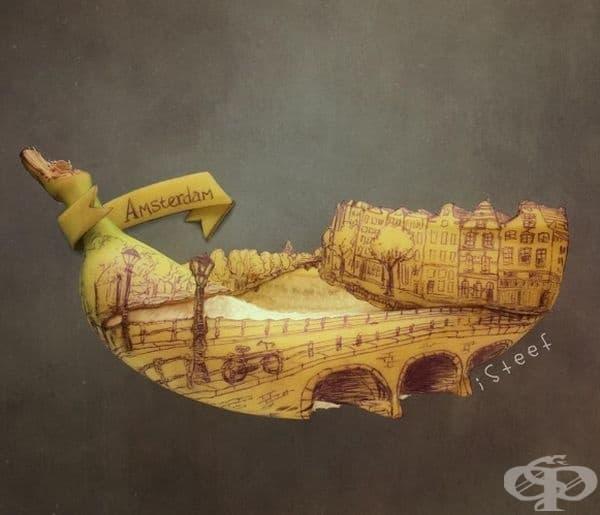 30 необичайни произведения на изкуството с банани
