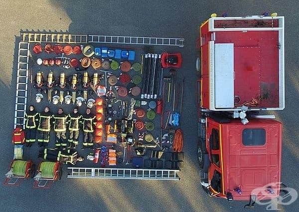 Пожарна кола от Мезиер, Франция