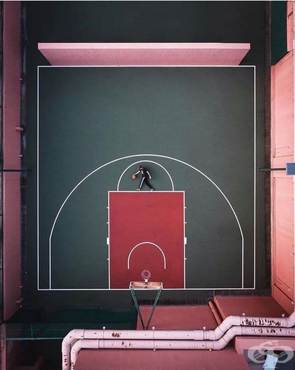 Кой може да предположи, че баскетболът ще предложи такава естетика.