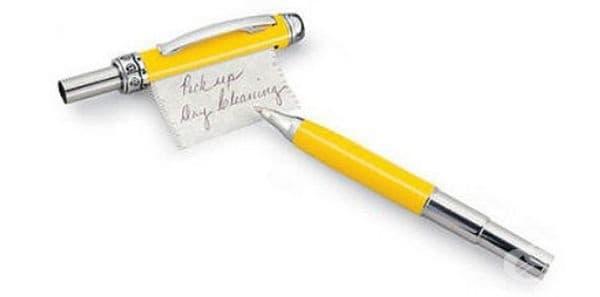 Химикалка с листче.