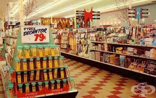 """Интериорът на магазин за сладкиши """"Wiggly Piggly"""", 1959 г."""