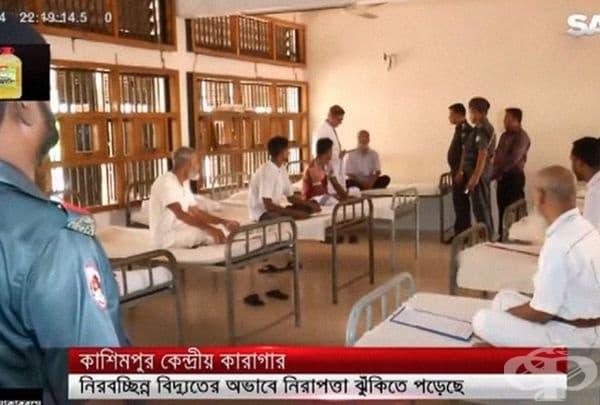 Централен затвор в Кашмимпур, Газипур, Бангладеш. Към момента там има около 1200 затворници.