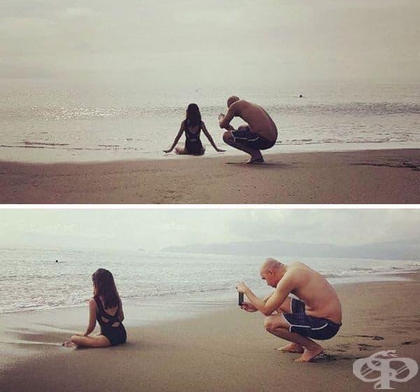 40 снимки, в които мъжете са принудени да правят перфектни снимки на своите половинки