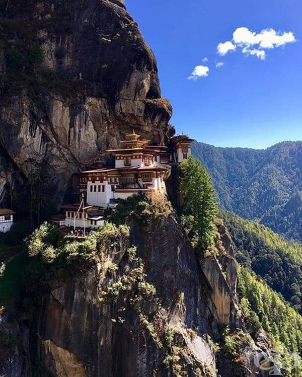 Бутан. Горите в Бутан произвеждат толкова много кислород, че неговото количество далеч надвишава количеството на емисиите на въглероден диоксид. Реките на Бутан също произвеждат електроенергия от възобновяеми източници.