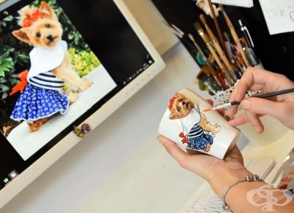20 ръчни 3D скулптури на домашни любимци върху чаши