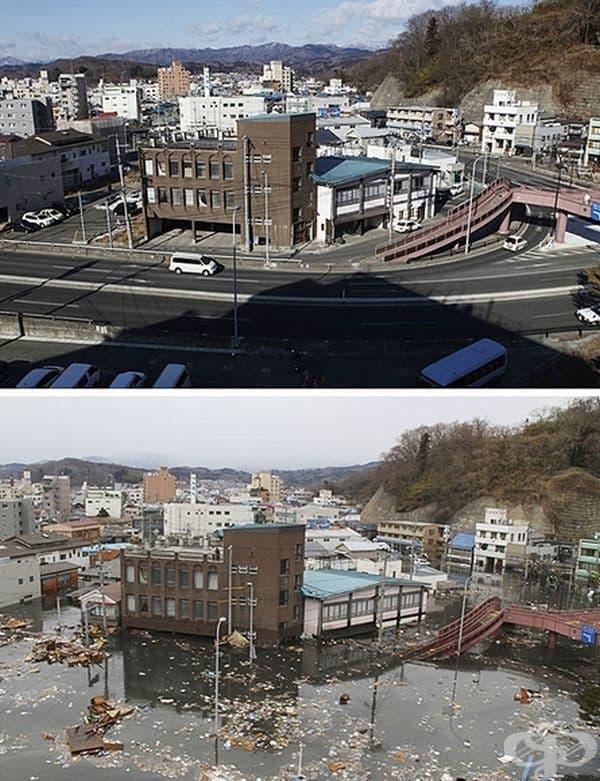 Цунами в Япония. Земетресение в Тихия океан край източното крайбрежие на остров Хоншу предизвика най-мощното цунами. Максималната височина на вълните е достигала височина 40 м., водният поток се е движил бързо и е унищожавал всичко по пътя си.