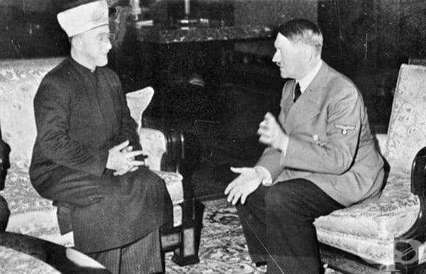 Адолф Хитлер се среща с Великия мюфтия на Йерусалим Хадж Амин ал-Хюсени, Германия, 1941 г.