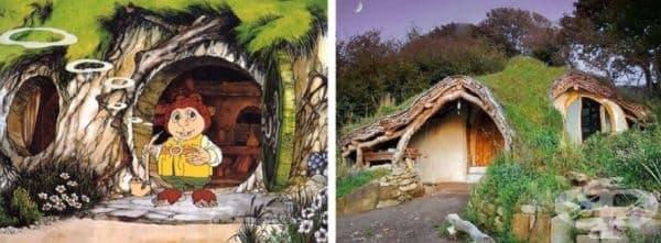 Хобитън - домът на хобитите. Това е екологична къща в хармония с природата. Изградена е от дъбови стърготини със стени от камъни, кал и слама. На покрива са разположени слънчеви панели, които се използват и за електричество.