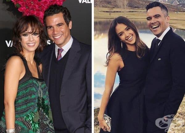 Джесика Алба: 10 години брак. Джесика и Кеш Уорън започват да се срещат през 2004 г. на снимачната площадка на Fantastic Four.През 2008г. сключват брак. Актрисата смята, че ключът към една силна връзка е времето, прекарано заедно и романтичната атмосфера.