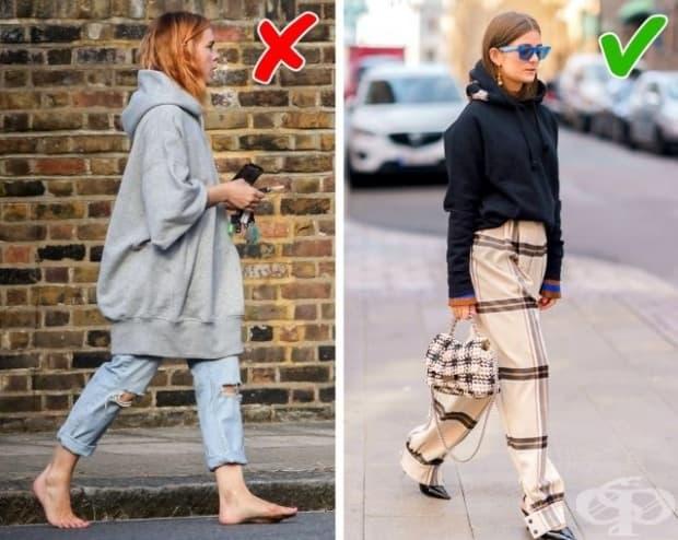 В такива дрехи тийнейджърка би изглеждала малка и уязвима. За една дама това облекло не е подходящо. Затова е по-добре да се подберат дрехи в реален размер.