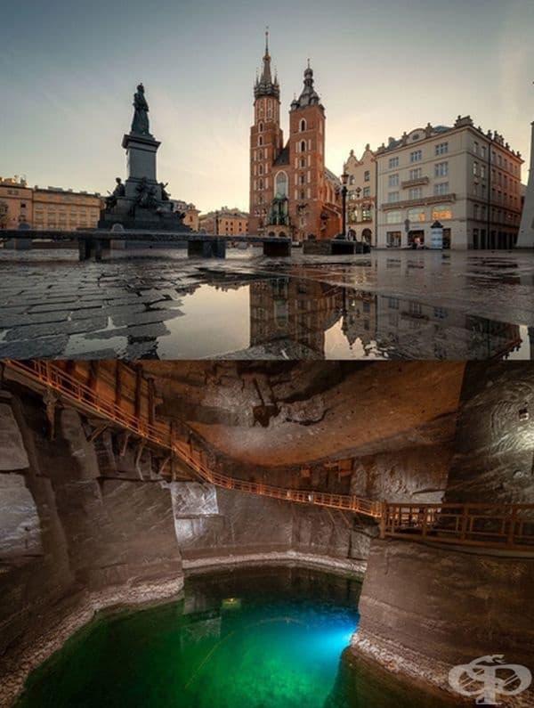 Полша: Солна мина Величка се намират в непосредствена близост до Краков. Това е една от най-големите туристически атракции в Полша. Мината, която достига дълбочина 327 метра, продължава да произвежда сол до 2007 г. и днес тя е отворена за обществеността.