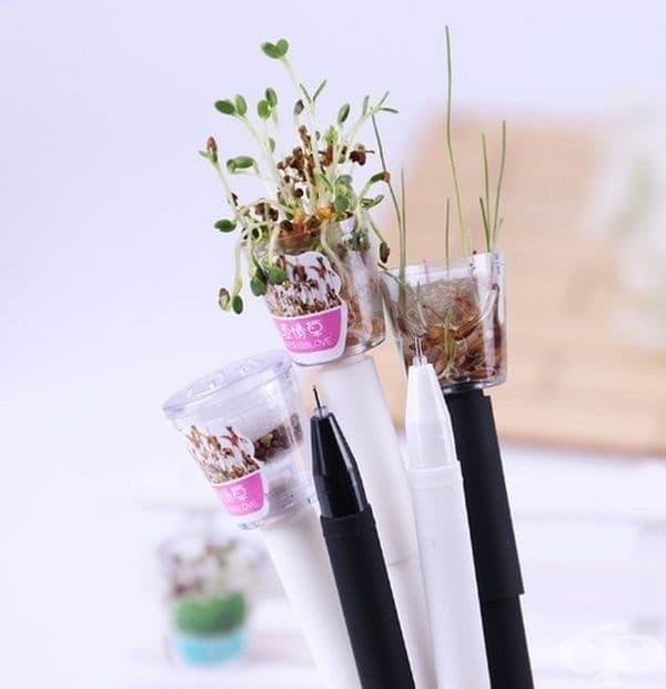 Химикалки, от които могат да пораснат различни растения.