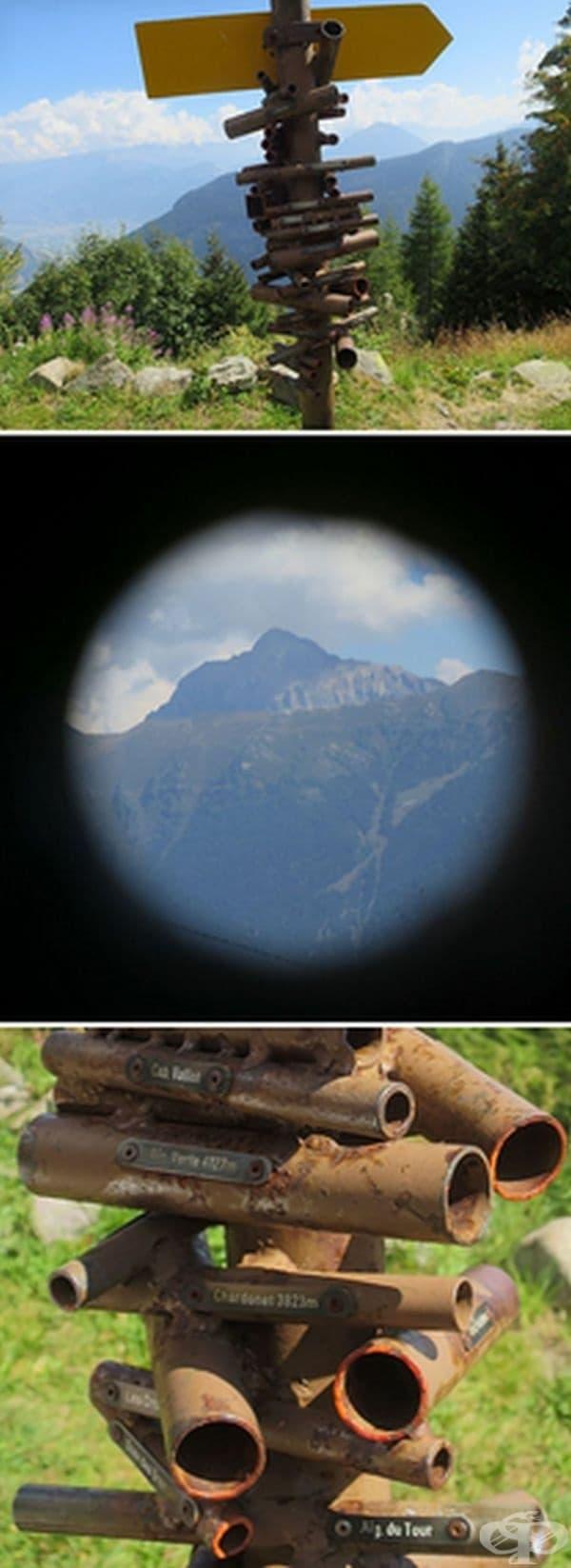 Тези тръби помагат да се открие определена планина сред многото други в Швейцария.