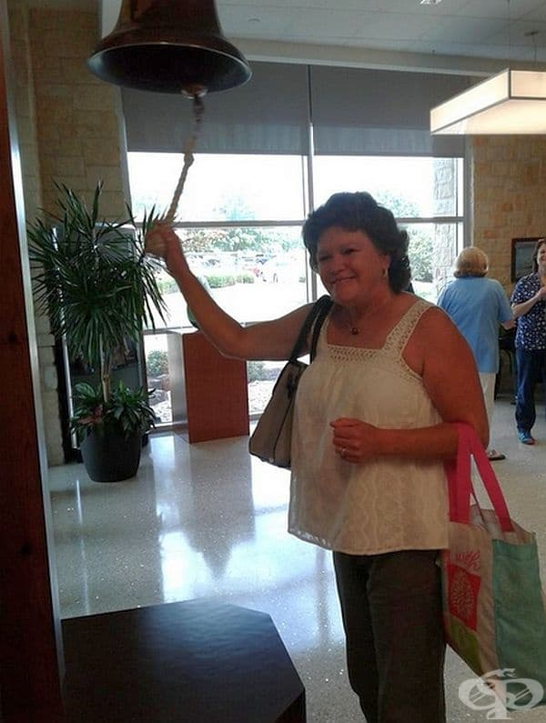 """""""Майка ми започва да звъни на камбаната, след като приключи годишния й курс на химиотерапията!"""""""