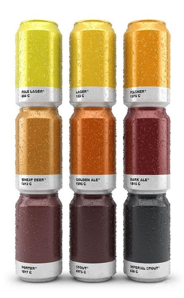 По цвета на кутиите може лесно да се установи какво е питието.