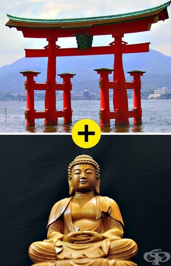 Мит 4. В Япония изповядват шинтоизъм. Донякъде това е така, но по принцип в Япония се изповядват две религии -  шинтоизъм и будизъм. Такова смесване се нарича религиозен синкретизъм. Отдел около 30% от населението са атеисти.