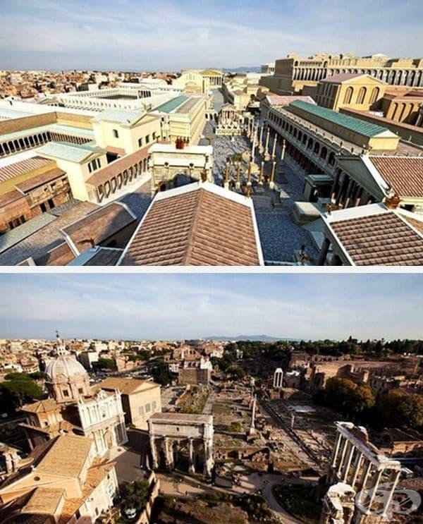 Изглед към Римския форум от Табулария (държавен архив)