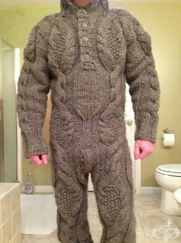 Това изглежда като сериозно предизвикателство за всички баби и любители на плетива.