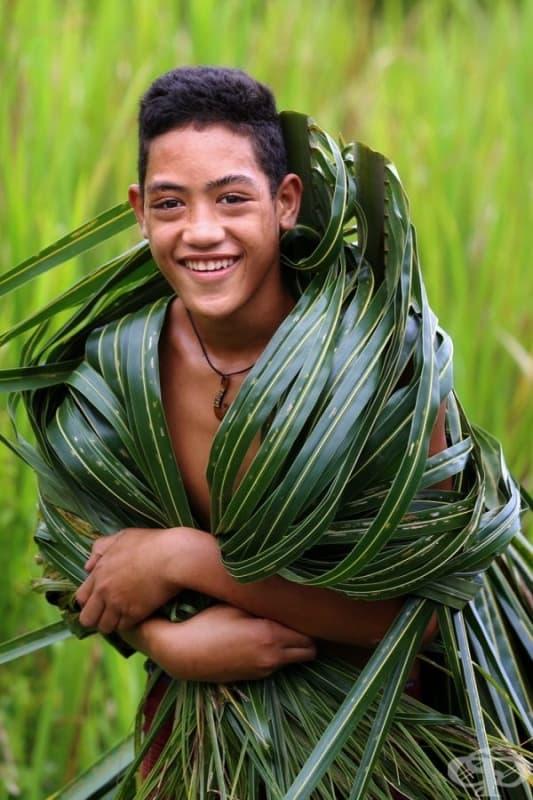 Момче от Самоа.