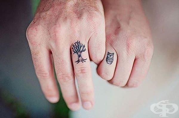 23 двойки, които имат татуировки вместо брачни халки