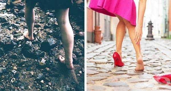 Винаги носите неудобни обувки или винаги ходите боси?