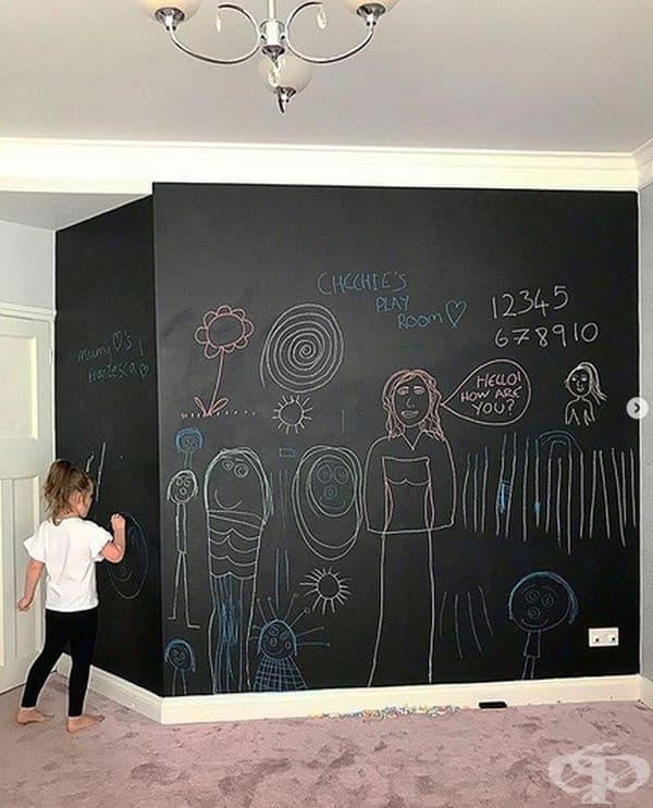 Стена - дъска. Място за творчески идеи на вашите деца.
