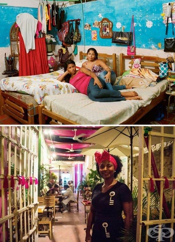 Затвор в Сан Диего, Картахена, Колумбия. Затворниците вкусват свободата всяка вечер като заемат различни позиции в пъстър ресторант в един от вътрешните дворове на затвора. Така те се подготвят да се върнат в обществото. Присъдите са за кражби и изнудване
