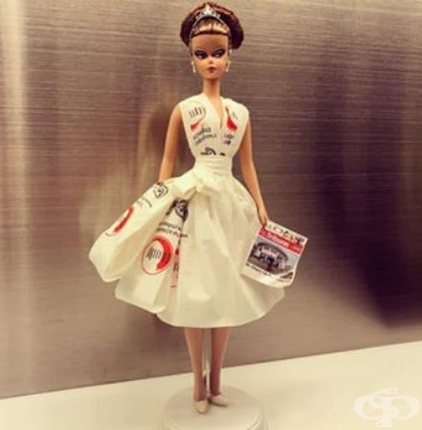 45 сватбени рокли за кукли Барби, създадени само от салфетки