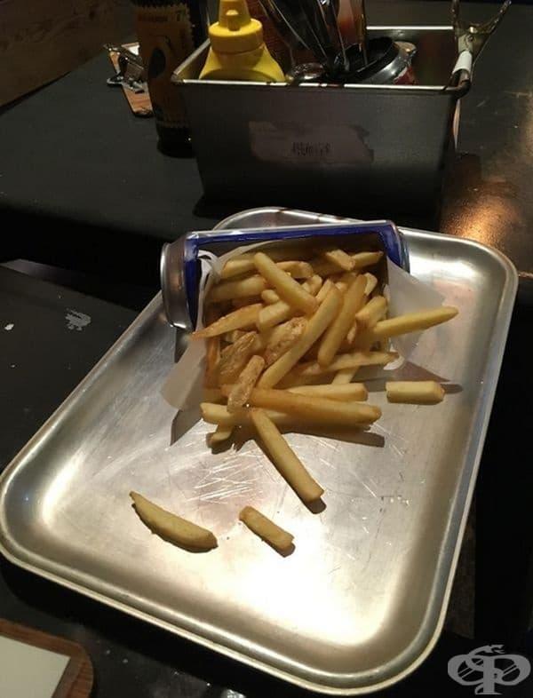 Просто порция картофи.